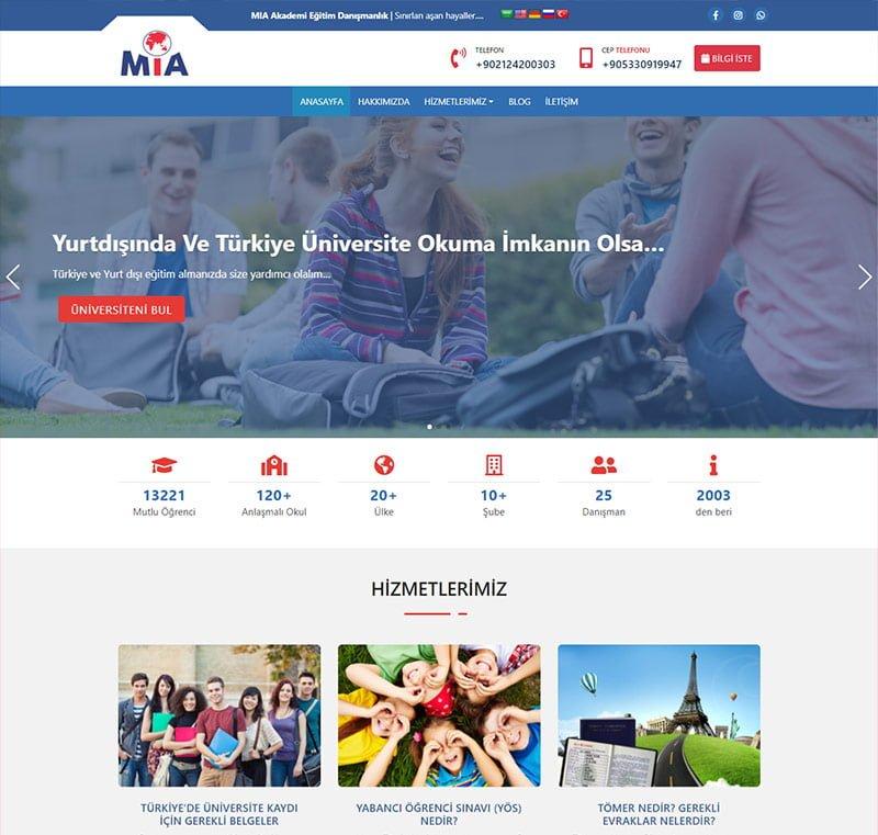 Kurumsal Web Tasarım Şablonu - MIA