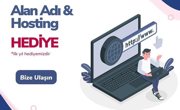 AVMEK tarafından yapılan sitelerde Domain ve Hosting ilk yıl hediye edilmektedir.