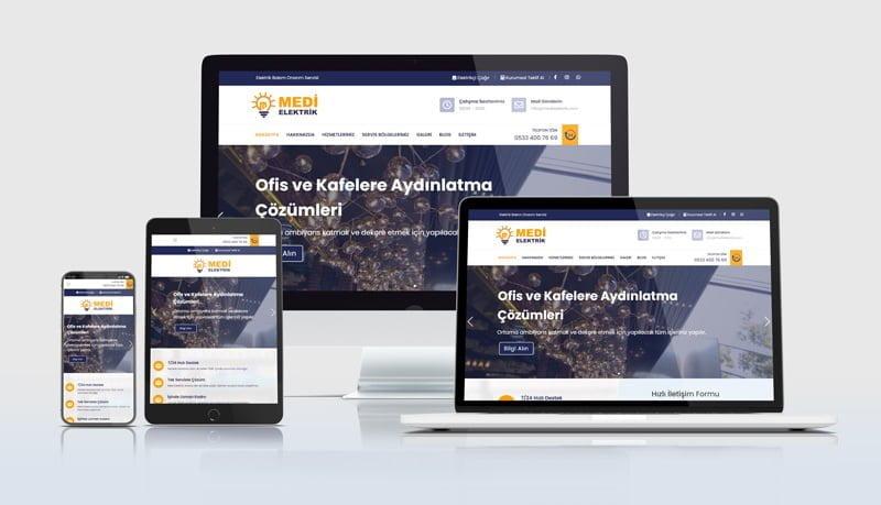 Mobil uyumlu elektrikçi web siteleri web sayfası tasarımı