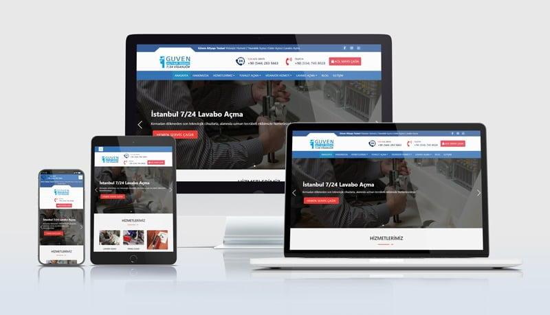 Mobil uyumlu Su Tesisatçısı web siteleri web sayfası tasarımı