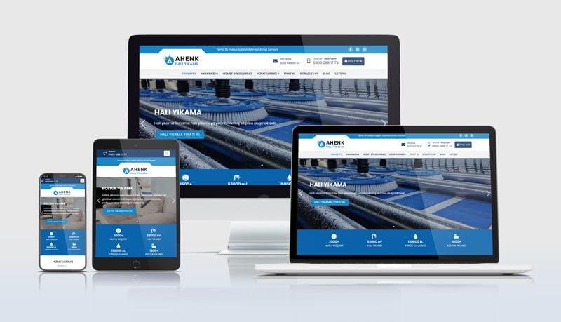 Mobil uyumlu halı yıkamacı web sitelerimiz her cihaz ekranına özel ölçü alabilecek esneklikte tasarlanmaktadır.