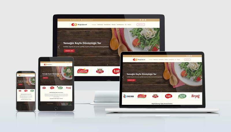 Mobil uyumlu catering  web sitelerimiz her cihaz ekranına özel ölçü alabilecek esneklikte tasarlanmaktadır.